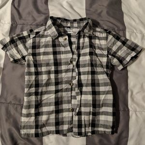 Garanimals plaid button up t shirt